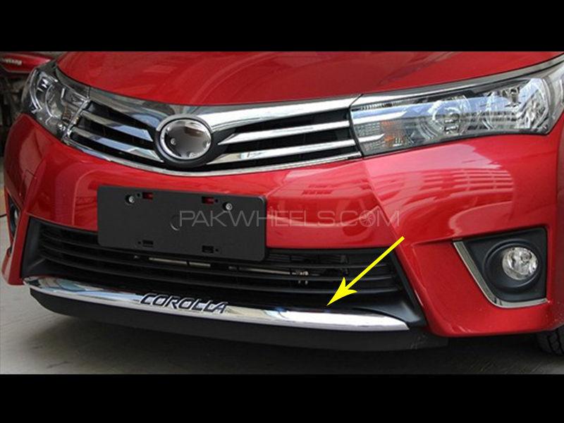 Corolla 2014-2016 2pcs Rear+Front Bumper Cover Trim Image-1