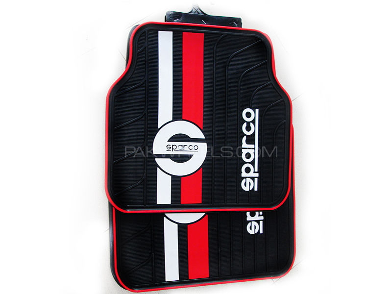 Floor Mat Sparco - Red & White Line in Lahore
